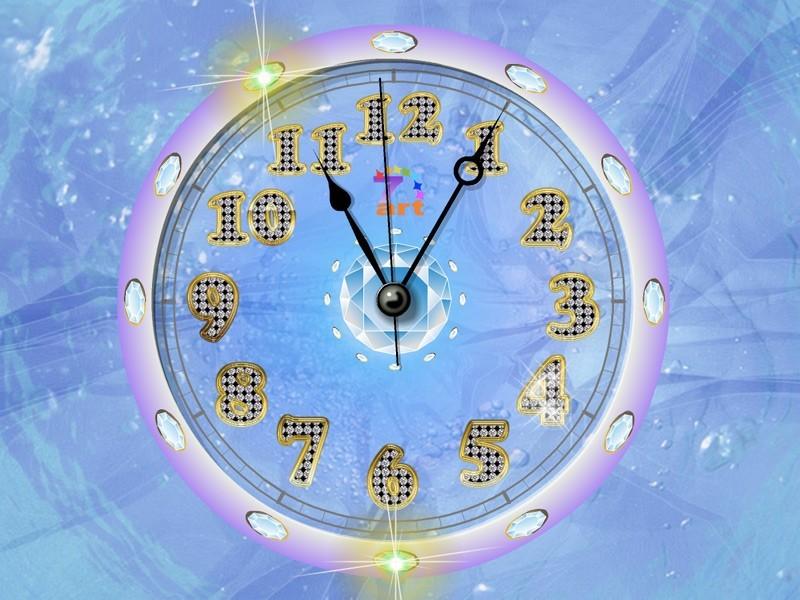 Free download Crystal Clock Diamond screensaver Themes Wallpaper