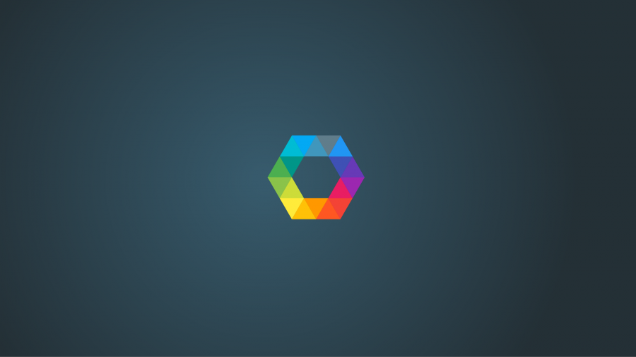 Minimalism Hexagon Rainbow 4K Wallpapers 900x506