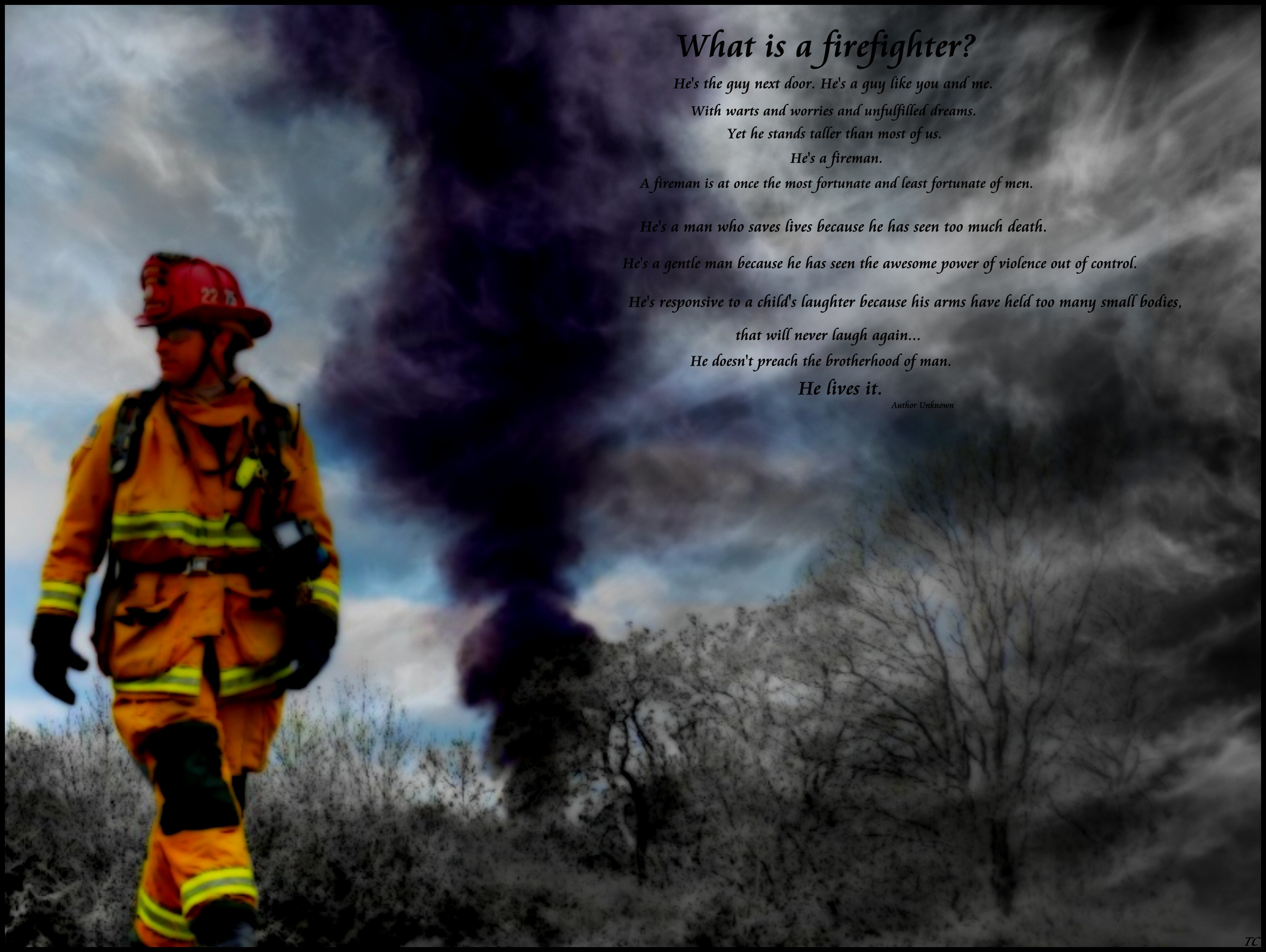 Firefighter Prayer Wallpaper Firefighter wallpaper 2580x1940