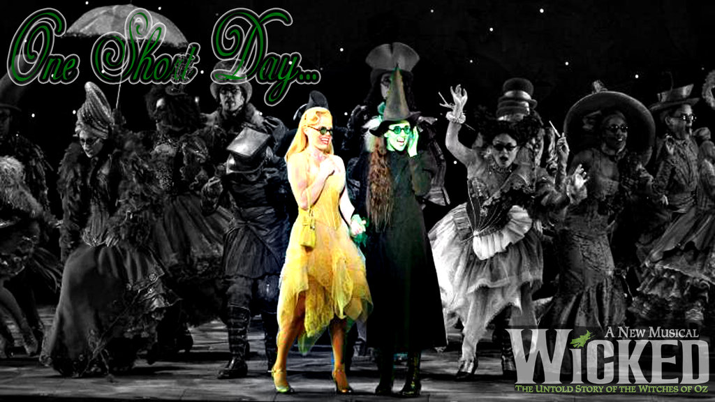 Wicked The Musical Backgrounds One short day wicked desktop 1024x576