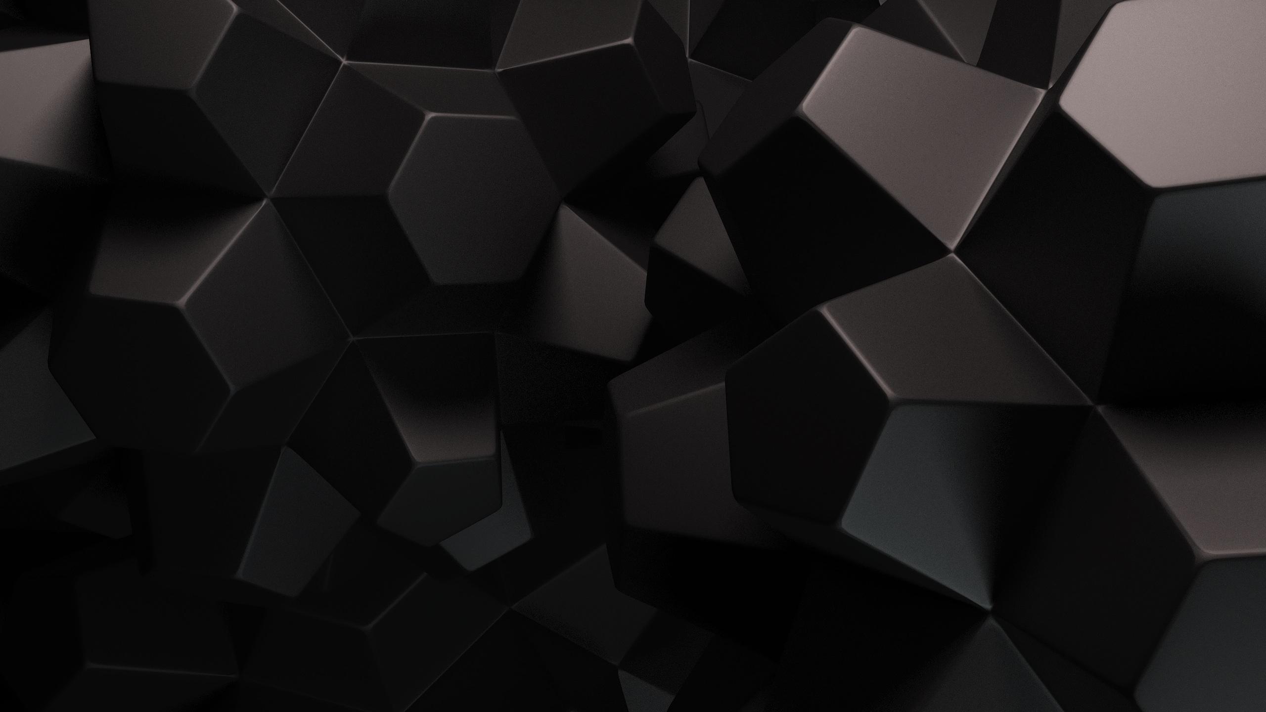 2560x1440 Abstract Black Shapes desktop PC and Mac wallpaper 2560x1440