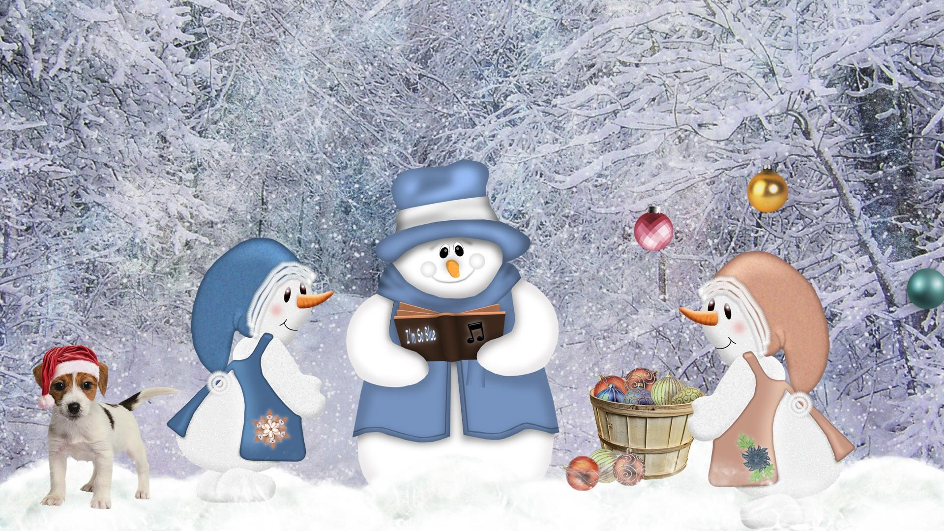 cute country snowman wallpaper - photo #2
