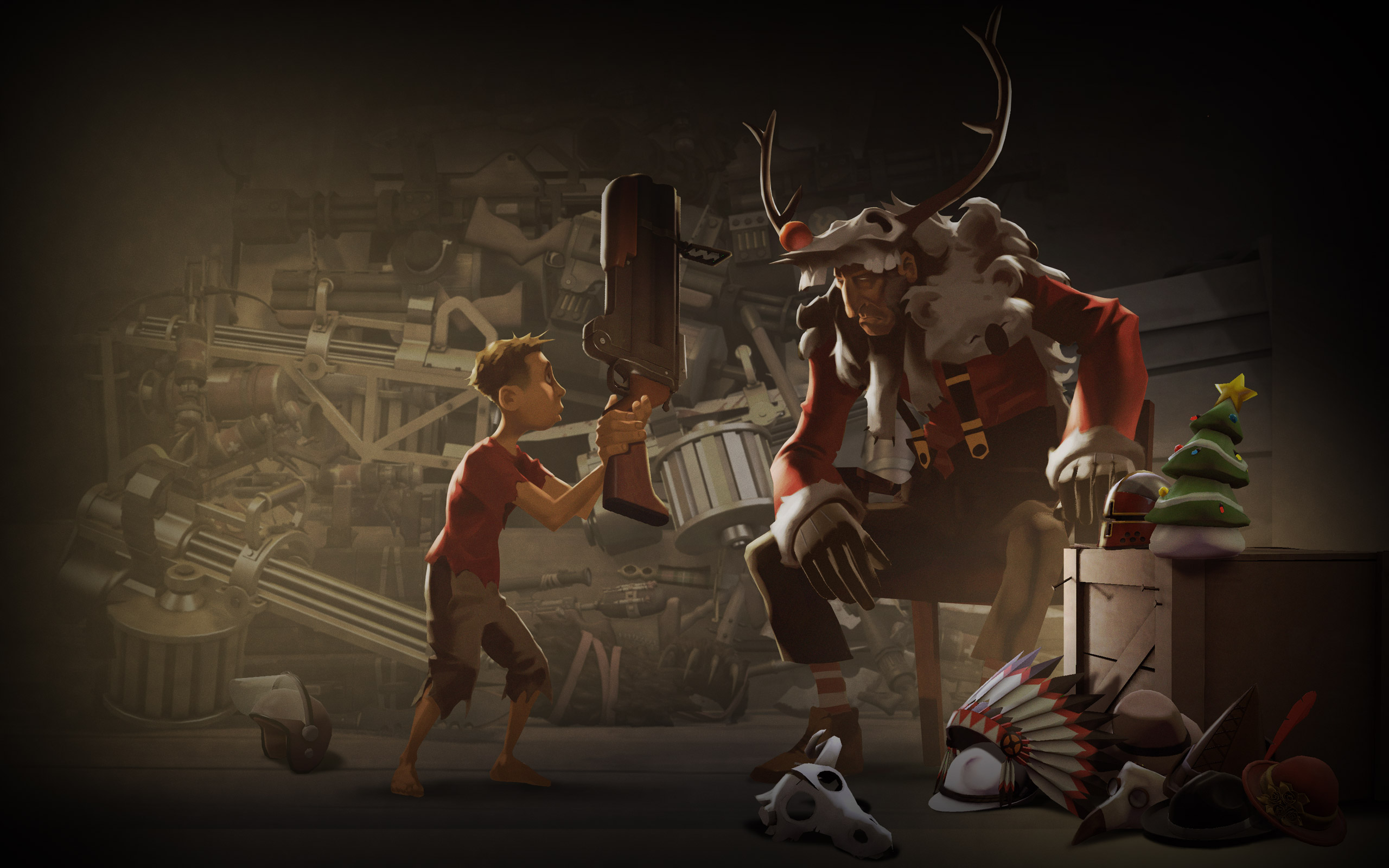 Team Fortress Christmas Google Backgrounds Team Fortress Christmas 2560x1600