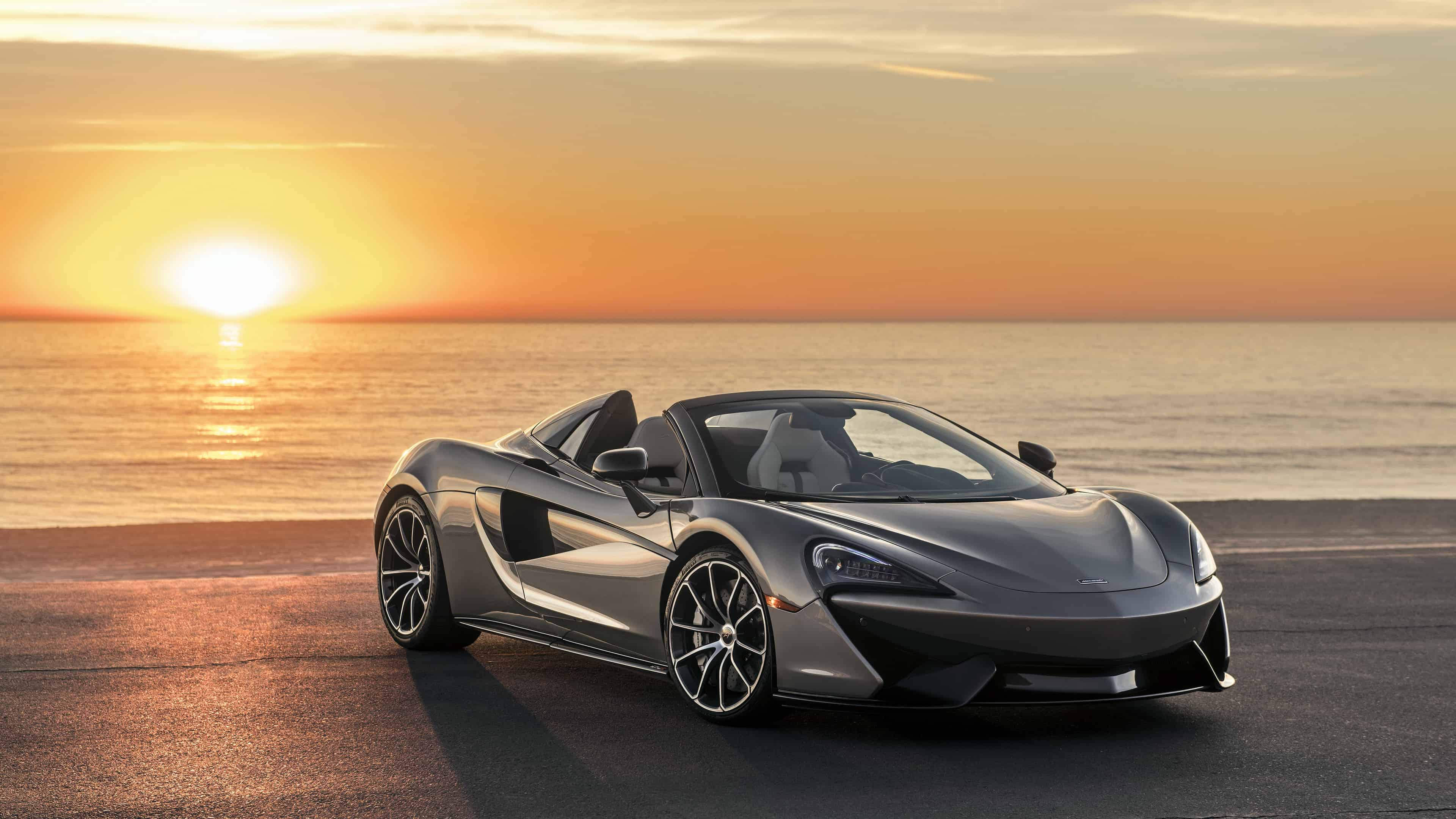 McLaren 570S Spider Grey UHD 4K Wallpaper Pixelz 3840x2160