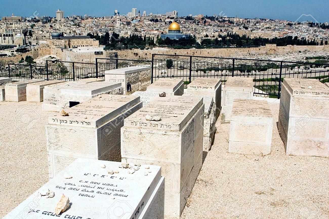 JERUSALEM   APR 13Mount Of Olives Jewish Cemetery With Jerusalem 1300x864
