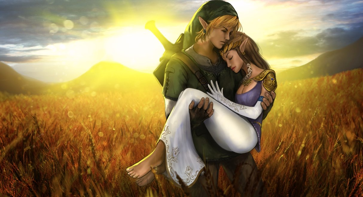 Link and Zelda by skribbliX 1214x658