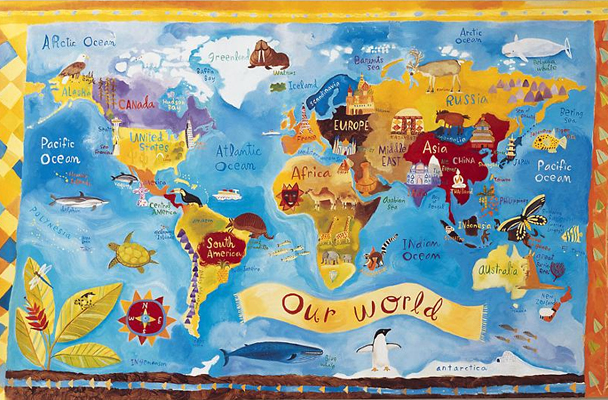 World Map Wallpaper for Kids WallpaperSafari