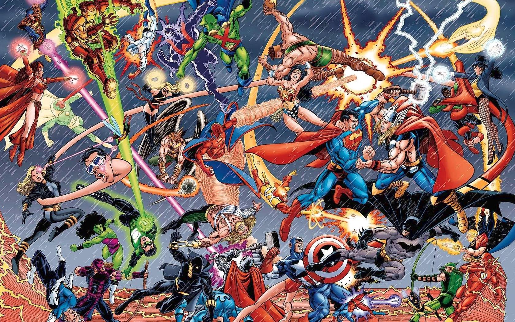 Marvel vs DC desktop wallpaper 1680x1050