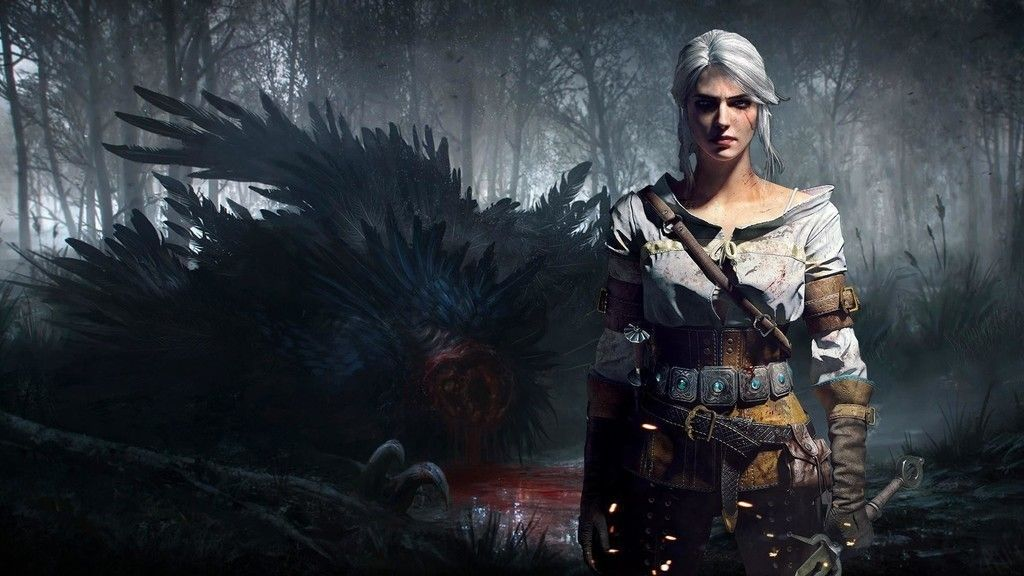 The witcher video game girl warrior ciri wallpaper The 1024x576