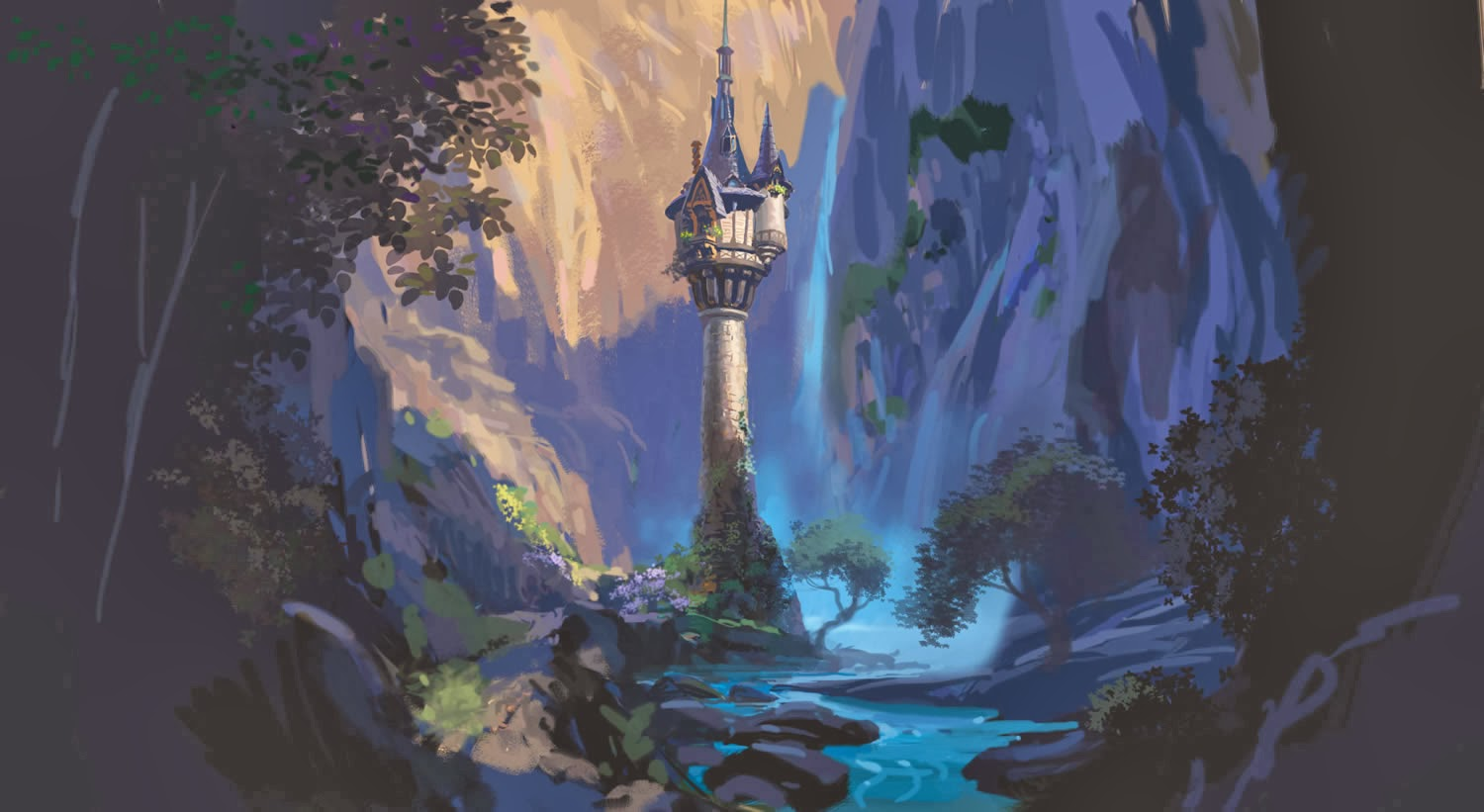 rapunzel tower concept art tangled wallpaperjpg 1500x821