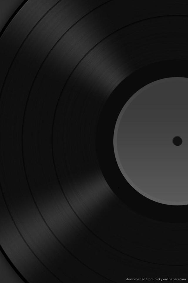 Download Vinyl Gramophone Record wallpaper for iPhone 4 640x960