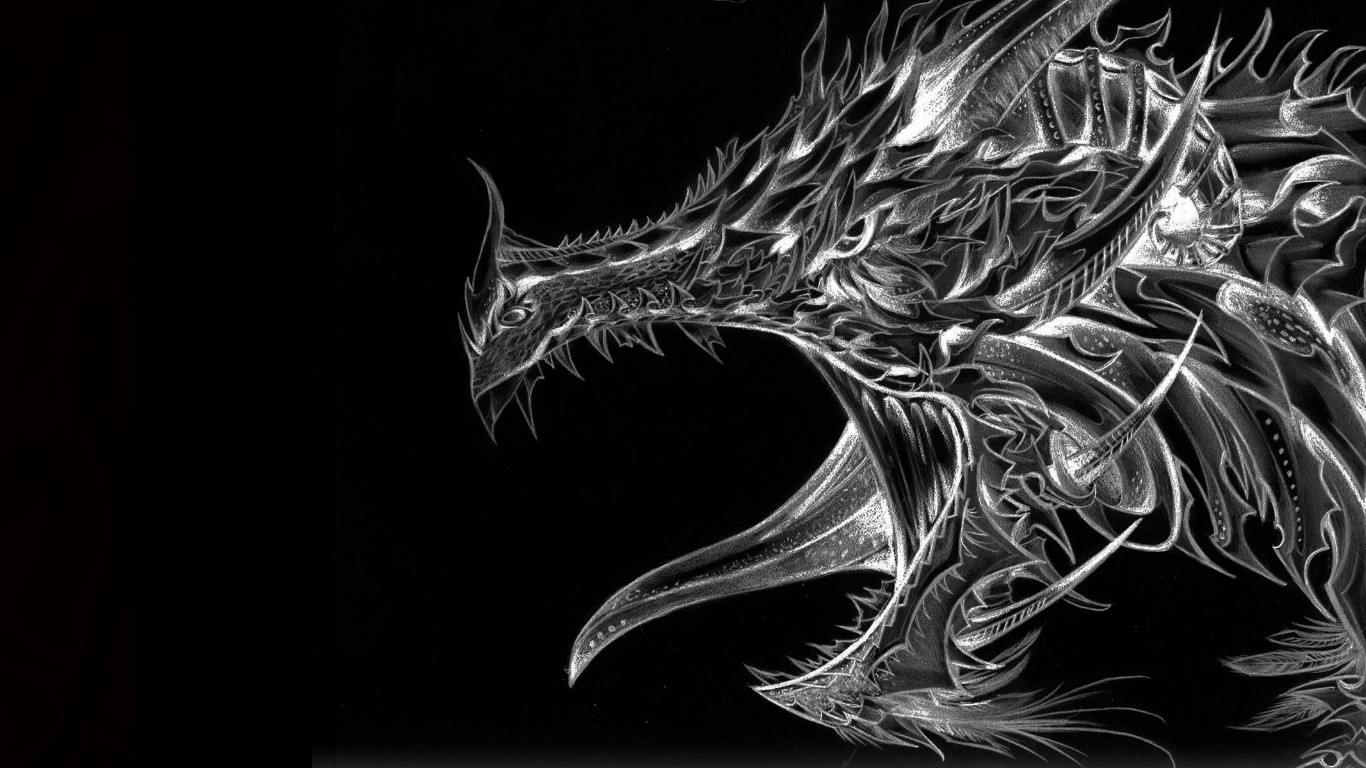 Cool Black Dragons 1 Wallpaper Background Hd With Resolutions 1366 1366x768