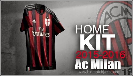 home kit jersey ac milan 2015 2016 adidas ac milan 556x320