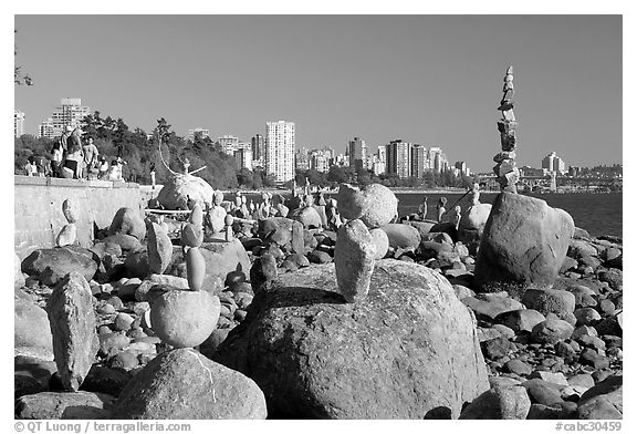 Stanley Park Vancouver British Columbia Canada black and white 576x392