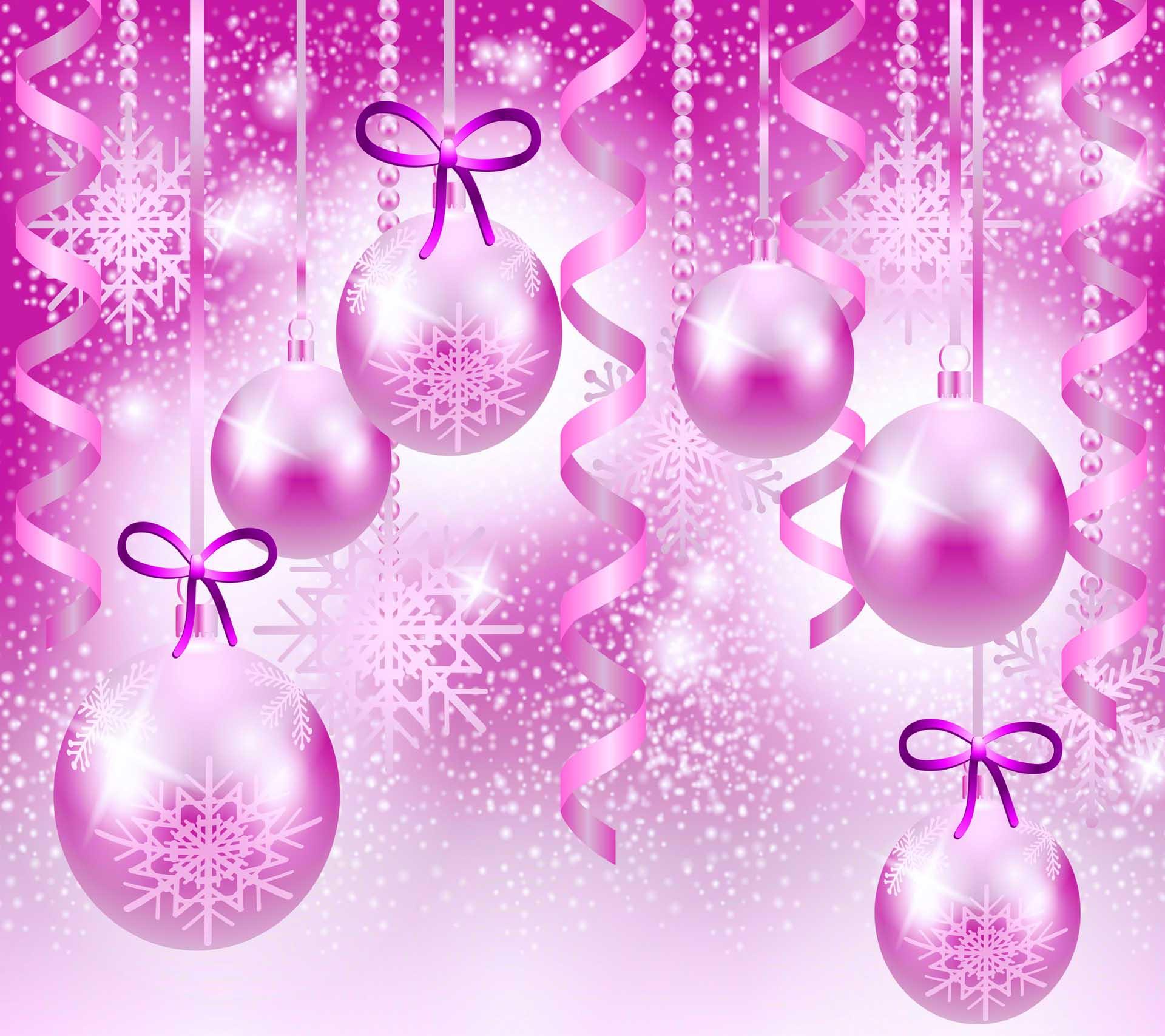 Pink Christmas HD Desktop Wallpper for 1920x1707