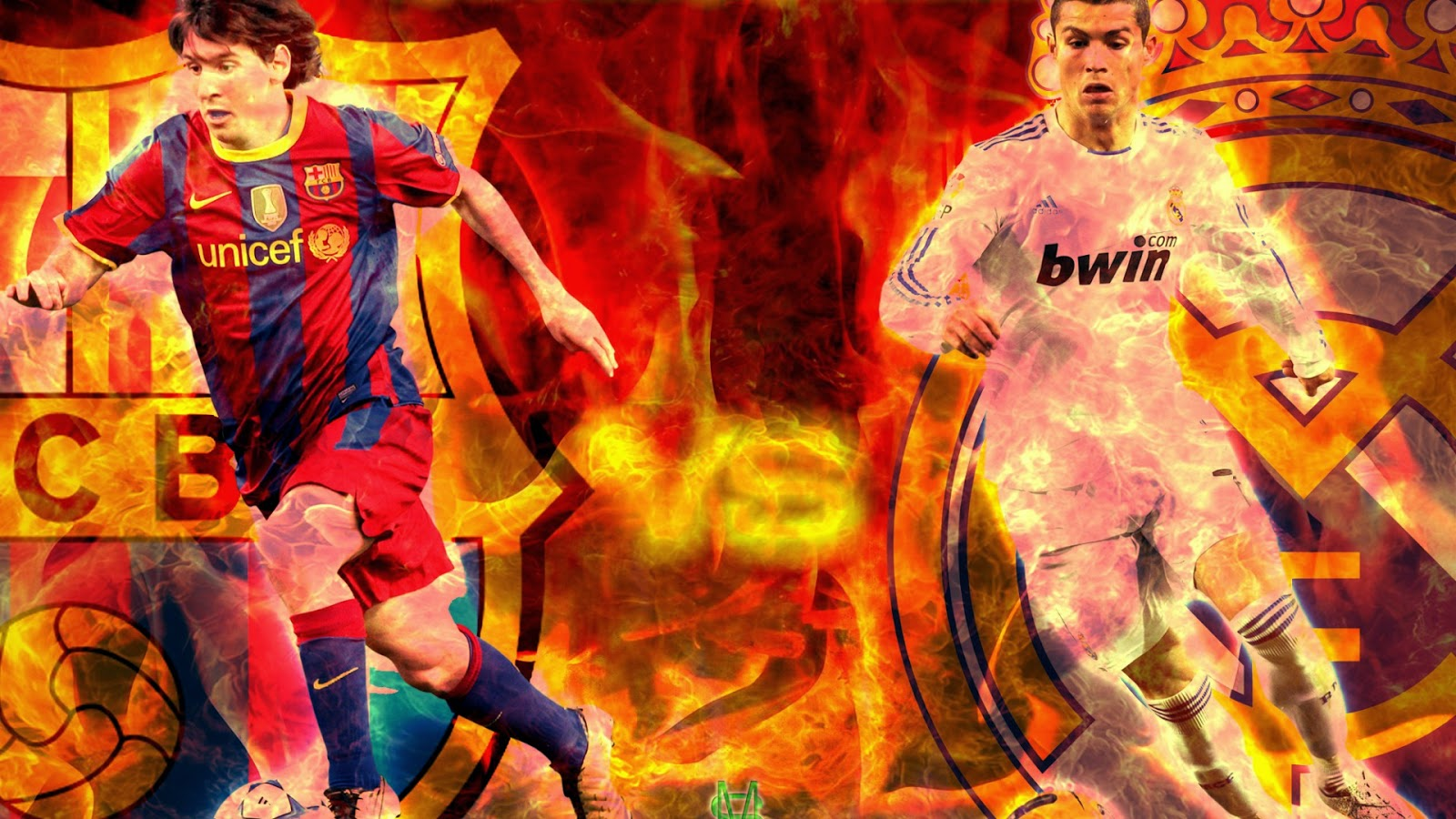 Wallpapers Cristiano Ronaldo Vs Lionel Messi HD Wallpapers 2014 1600x900