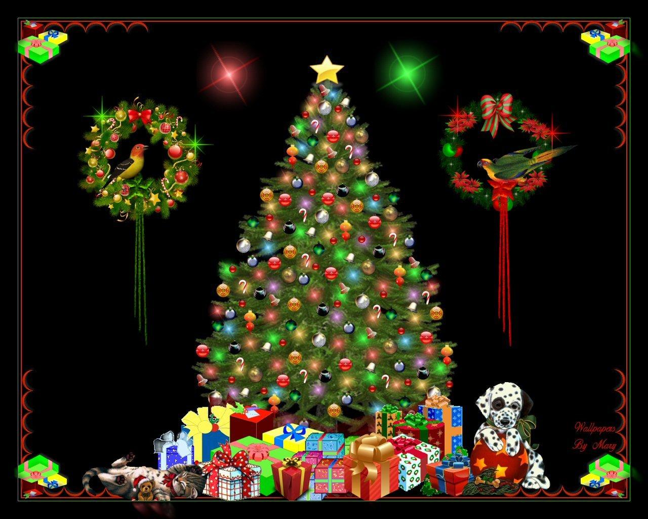 christmas tree 1280 x 1024 Wallpaper   ForWallpapercom 1280x1024