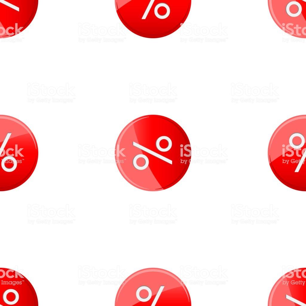 Discount Percent Red Sticker Seamless Wallpaper Pattern Stock 1024x1024
