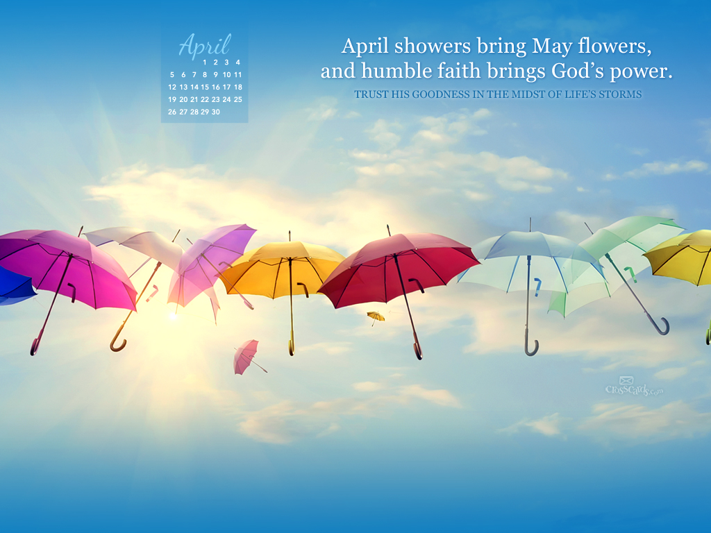 2015   Gods Power Desktop Calendar  Monthly Calendars Wallpaper 1024x768