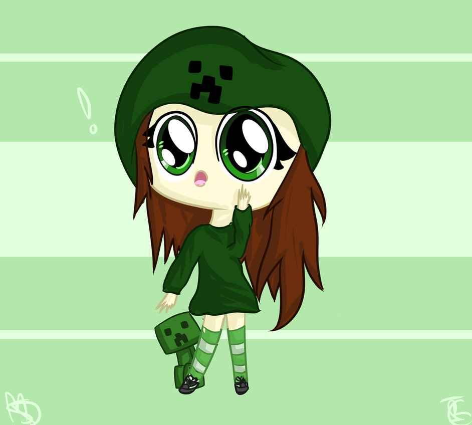 48 minecraft creeper girl wallpaper on wallpapersafari - Creeper anime girl ...