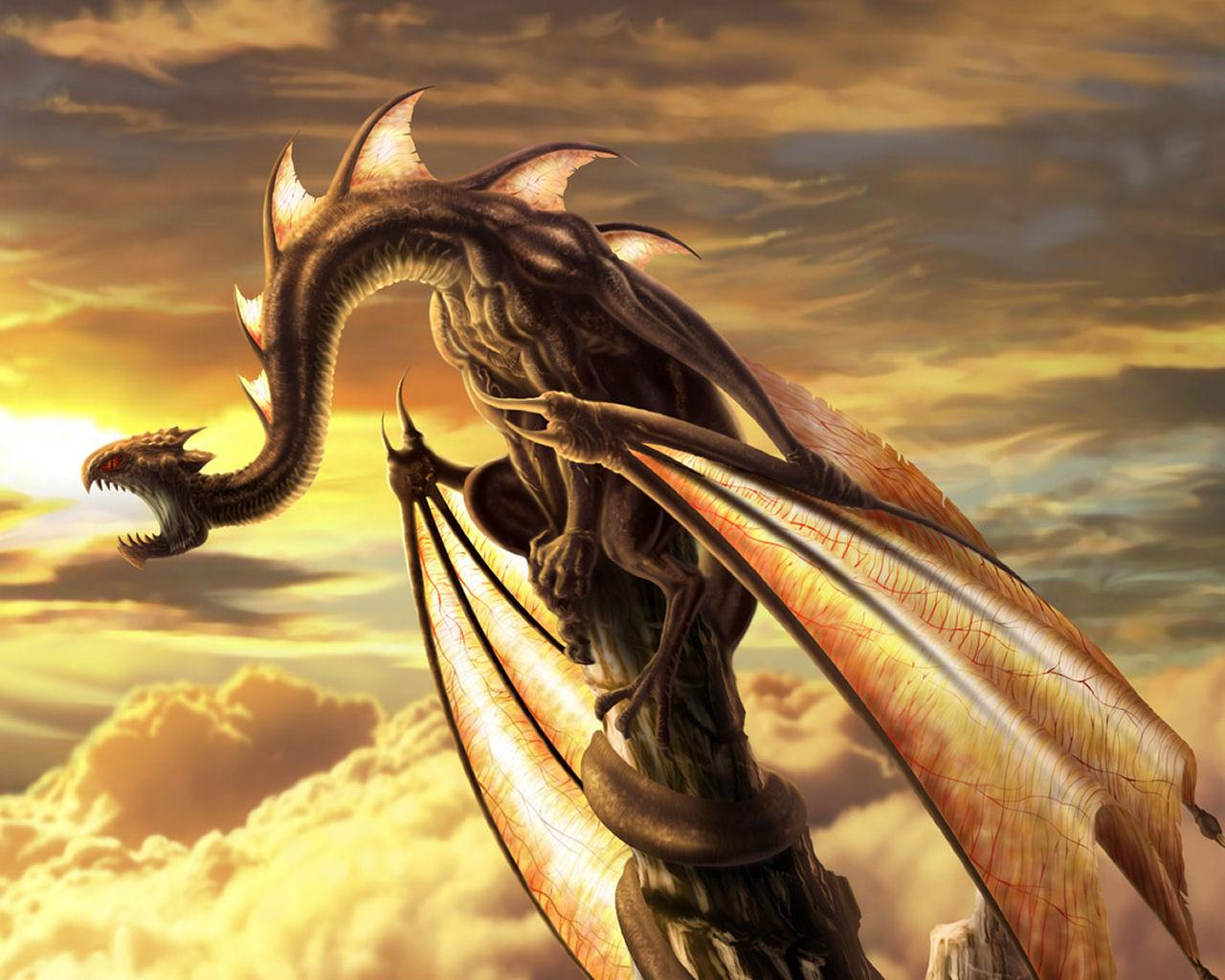 3d Dragon Wallpapers 1280x1024