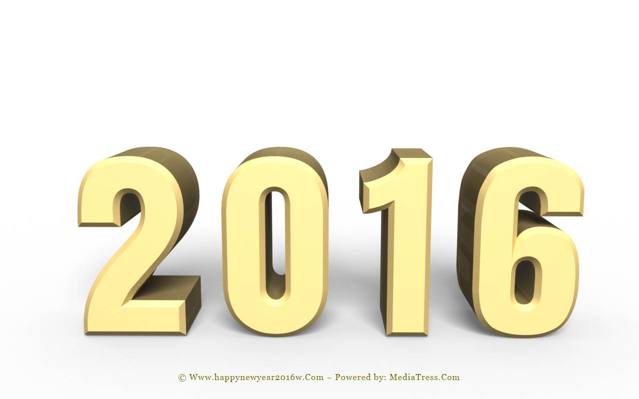 Download New Year 2016 3D Designs Images Wallpapers 1280x800
