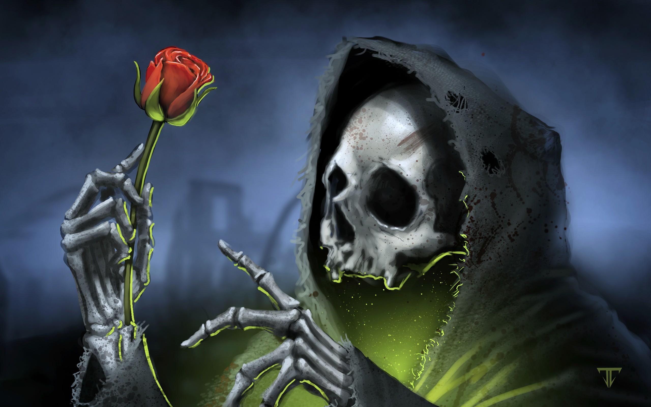 2880x1800 Black Rose Wallpaper From Gothic Wallpapers SCARLET Pinterest Source Skulls WallpaperSafari