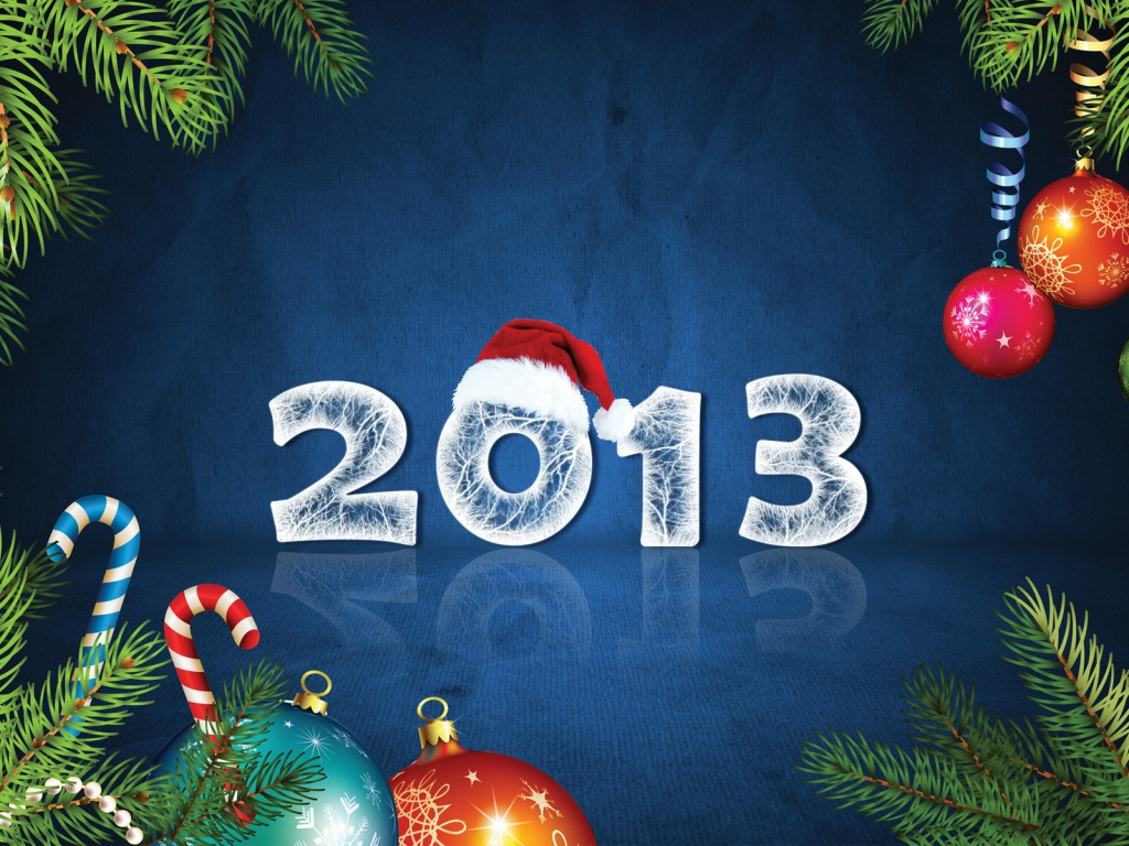 Download Happy New Year 2013 PowerPoint Backgrounds 1024x768