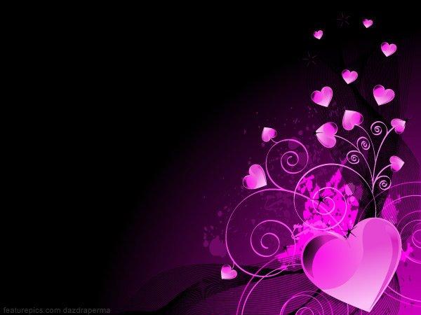 Purple Hearts Background - WallpaperSafari
