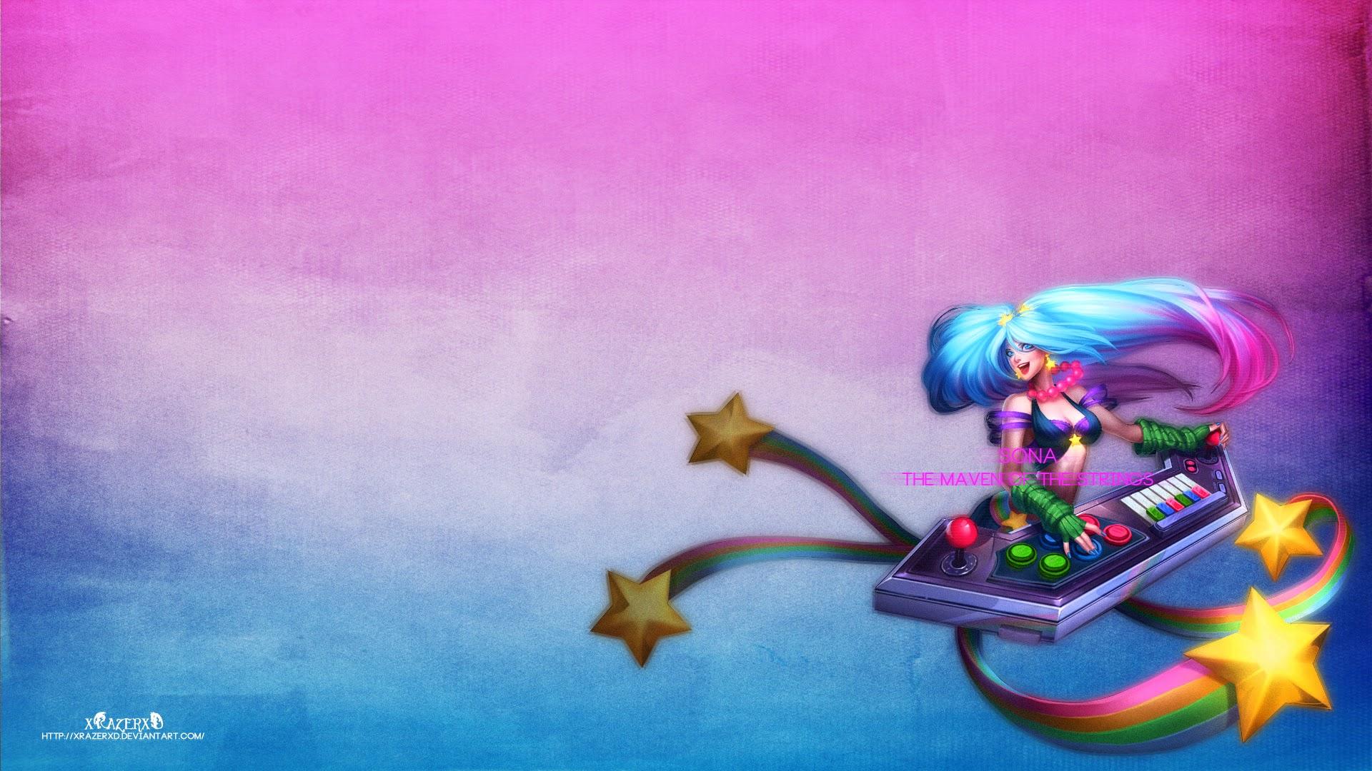 Chillout :: Sona Arcade Wallpaper  Arcade Sona Wallpaper