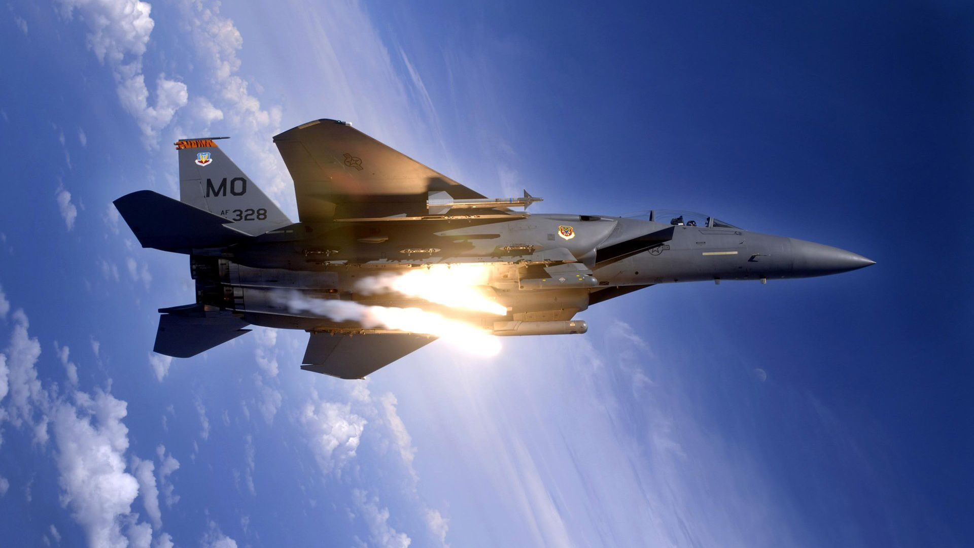 F15 Eagle Computer Background Tech Fighter jets Airplane 1920x1080