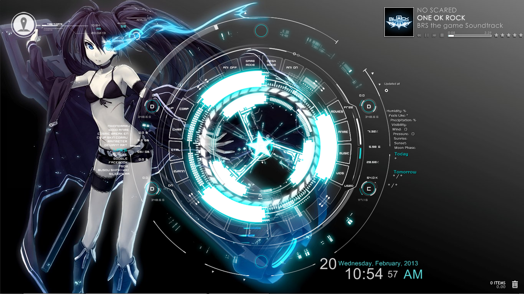 BRS rainmeter w/ SAO menu interface 02 by EvannGeo on DeviantArt