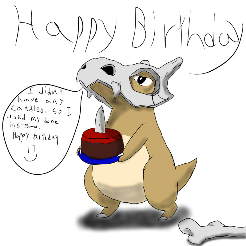 Cubone And Marowak Wallpaper Happy birthday from cubone by 800x800