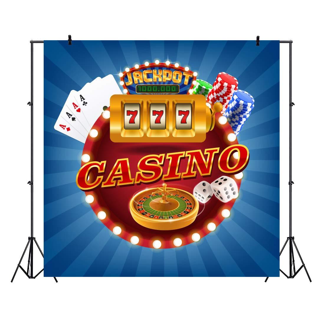 Amazoncom Baocicco 8x8ft Casino Backdrop Poker Cards Dice 1095x1085