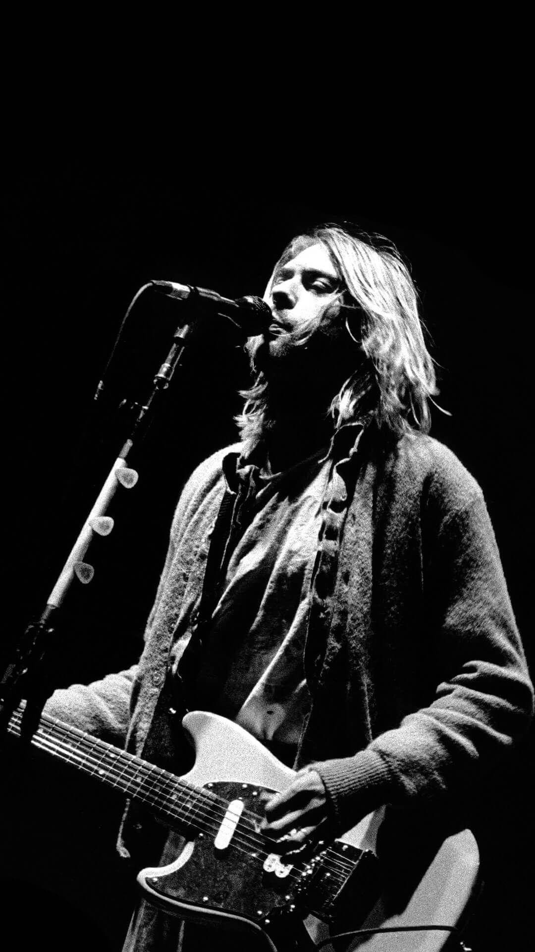 Kurt Cobain IPhone 6 Plus Wallpaper HD Rock n roll Rock mzik 1080x1920