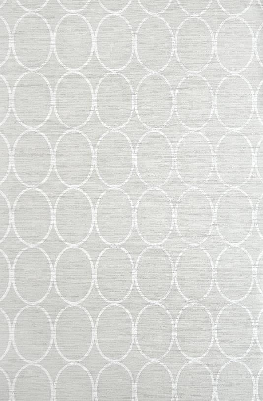 Sonoma Wallpaper Light Grey wallpaper with geometric oval design in 534x815