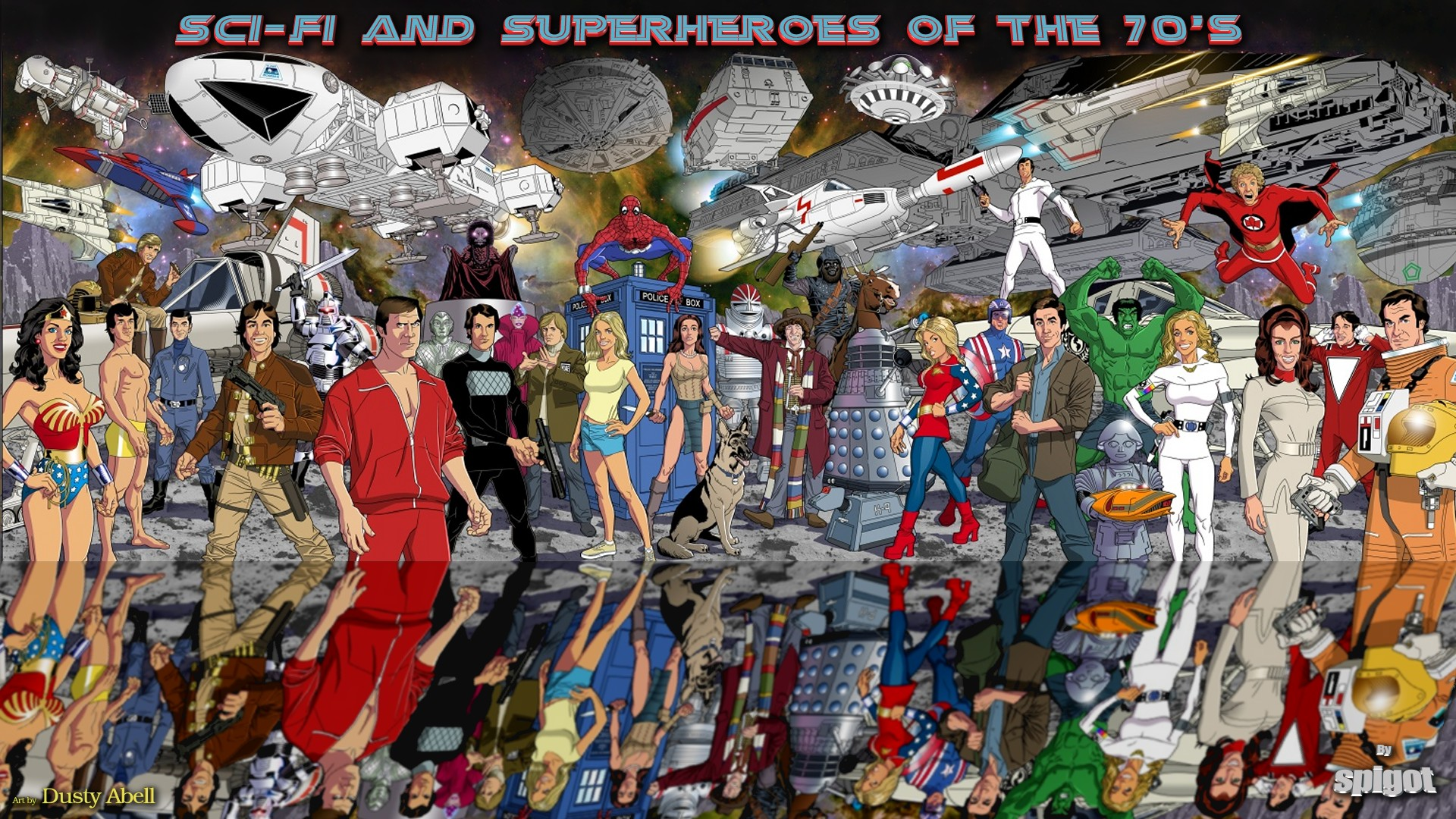 Sci Fi and Superheroes of the 70s Wallpaper George Spigots Blog 1920x1080