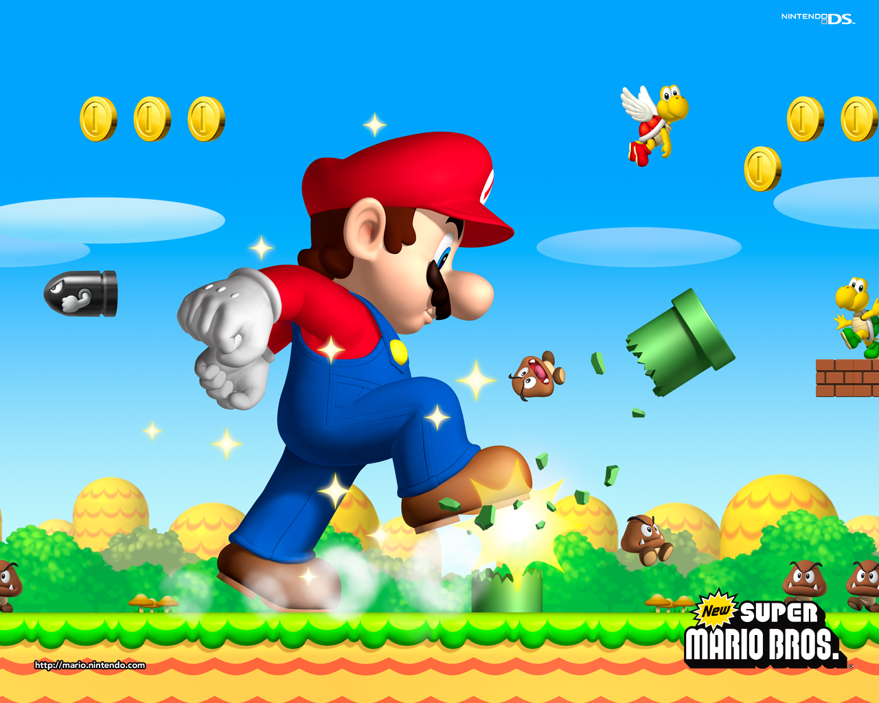 New Super Mario Bros Background   Mario foto 37817204 1280x1024