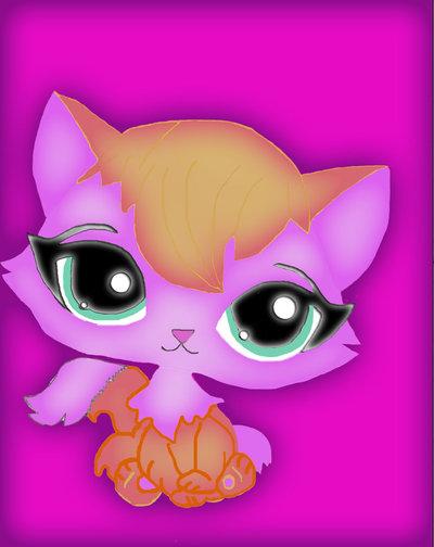 Cute Love Cartoon Wallpaper on Littlest Pet Shop Kitty Update By 400x504