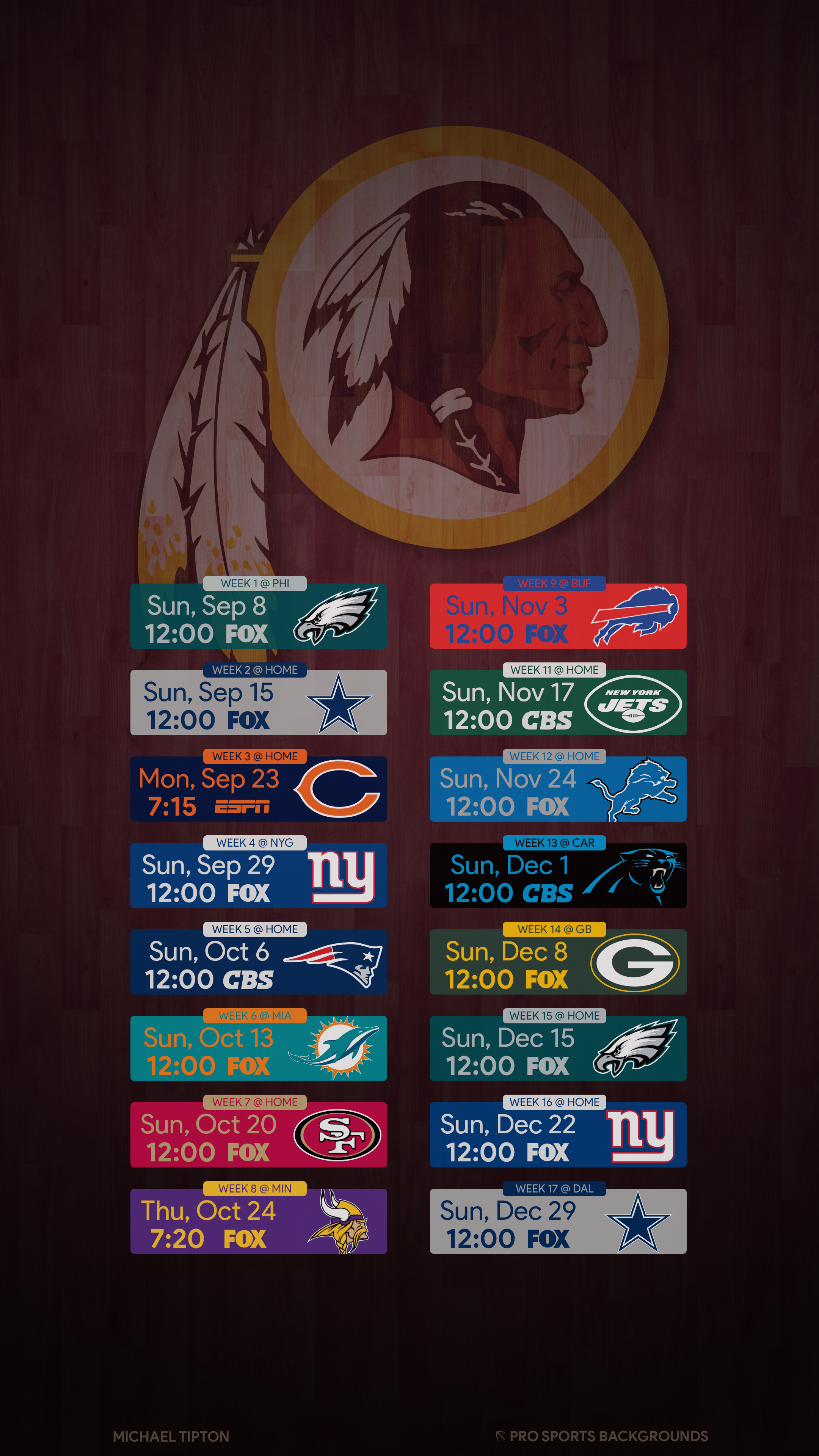 Washington Redskins Images Wallpaper posted by Ethan Simpson 2160x3840