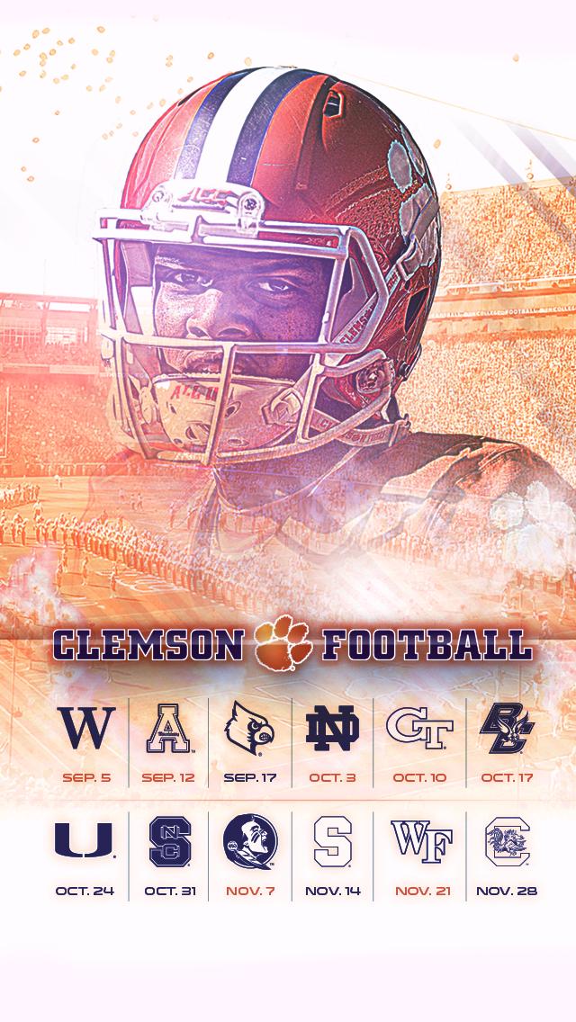Harley Creative 2015 Clemson Football Wallpaper 640x1136