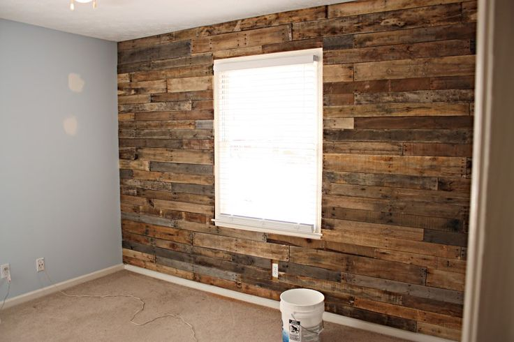pallets to create a barn wood wall well it looks like barn wood 600x315