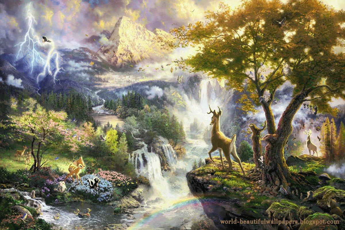 download Beautiful Wallpapers nature painting wallpaper 1200x800