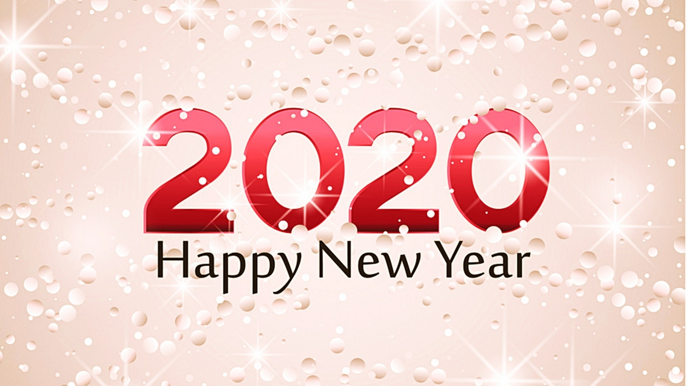 download Happy New Year 2020 Wallpaper HD 45554 Baltana 1366x768