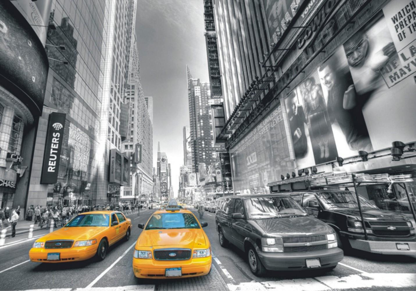 Wall mural non woven wallpaper New York Taxi Yellow Cap Manhattan NYC 1431x1000