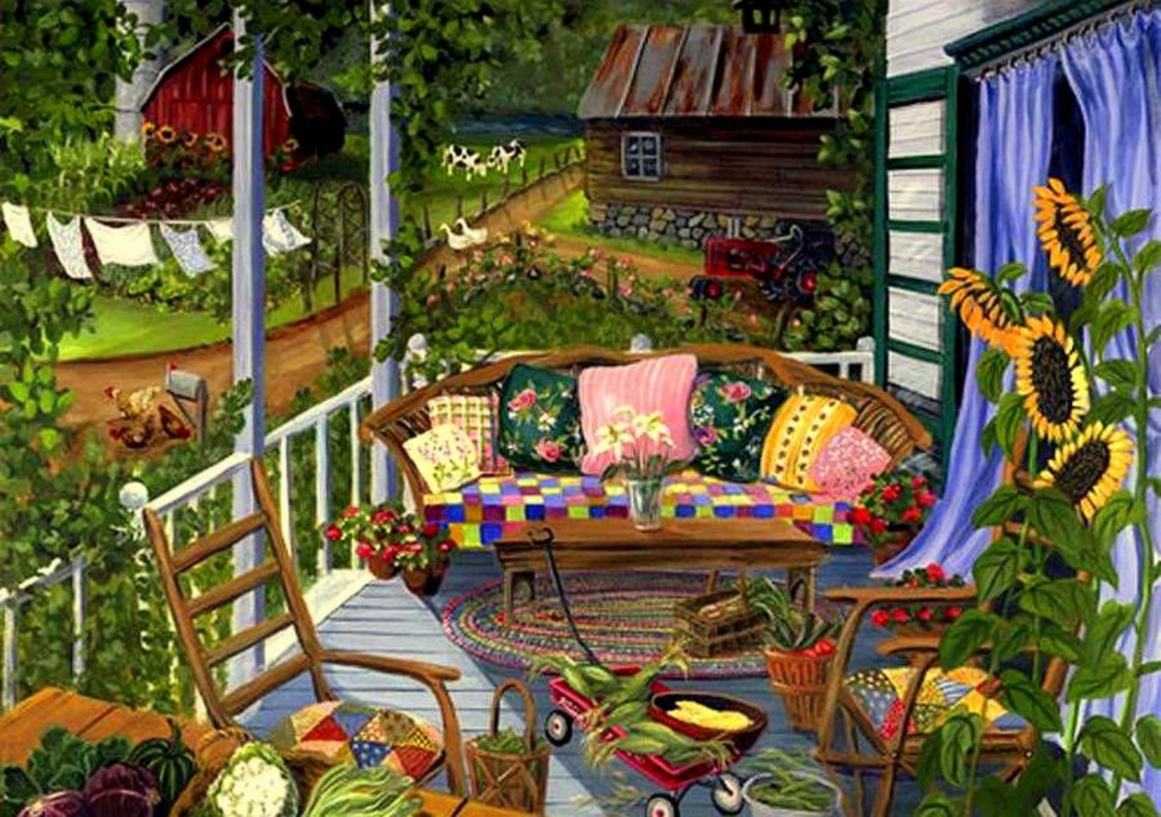 Country gardens wallpaper - Country Harvest Wallpaper Forwallpaper Com
