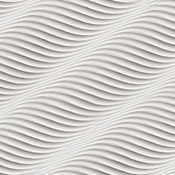 MDF 3D Wall panels NO 129 WHITE COLOR USAChina Mainland 600x600
