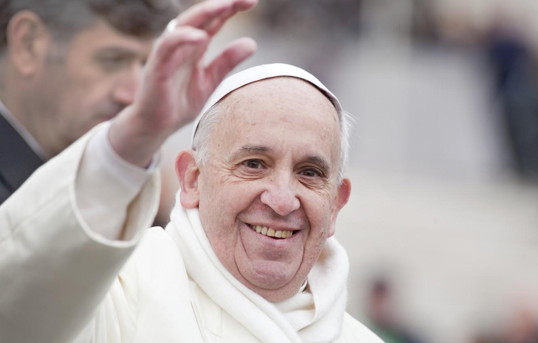 Wallpaper white smile Francisco poses Pope Francis Jorge 1332x850