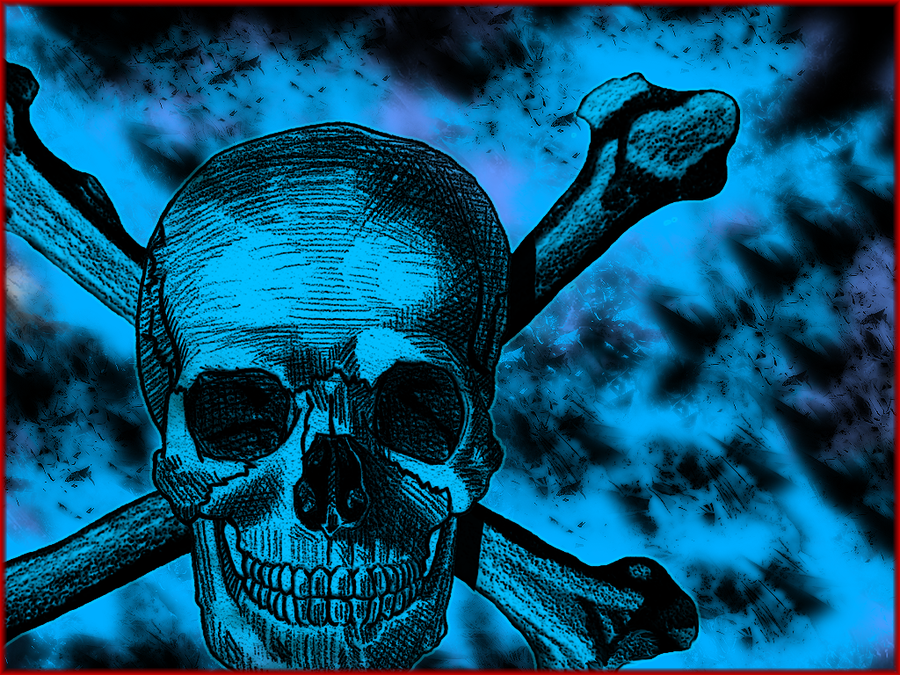 Black and Blue Skull Wallpaper by ShinobiDark72 900x675