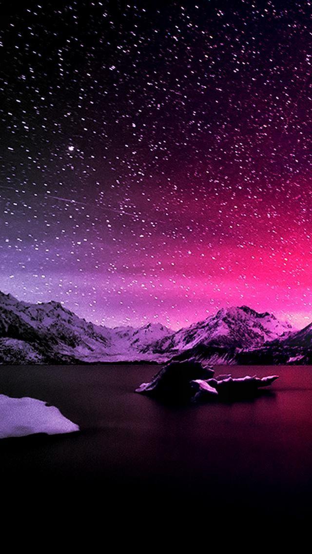 Winter Night Backgrounds in 2019 Iphone wallpaper Purple 640x1136